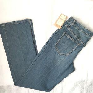 NWT Coldwater Creek Natural Waist Bootcut Jeans